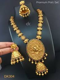 big pendant gold plated necklace set
