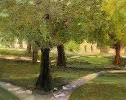 Paths to Learning (IWU), Oil Plein Air, $65 by Cindy Lawson-Kester