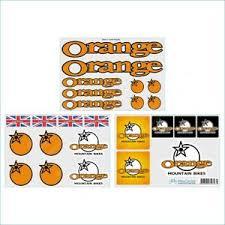 Orange Mtb Mountain Bike Decals Stickers Set Nice Look Ebay