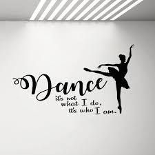 Dance Wall Art Decals For Girls Room Ballet Ballerina Silhouette Wall Stickers Quote Vinyl Decal Mural Princess Room Decor G889 Wall Stickers Aliexpress