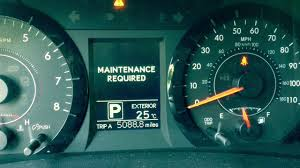 how to reset toyota sienna maintenance