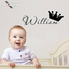 Personalized Name Prince Wall Sticker Kids Baby Room Wall Decal House Decoration Decorate Babys Room Wall Stickers Aliexpress