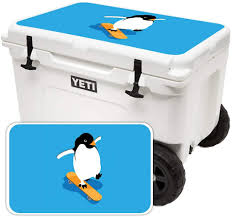 Amazon Com Mightyskins Cooler Not Included Skin Compatible With Yeti Tundra Haul Cooler Lid Skater Penguin Protective Durable And Unique Vinyl Decal Wrap Cover Easy To Apply Made In The Usa
