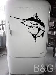 Amazon Com Marlin Decal Blue Marlin Fishing Decals Fishing Stickers Marlin Fish Sticker Car Window Decals Boat Decal Fish Decor B G Handmade