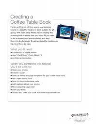 creating a coffee table book corel