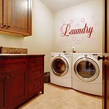 Vinyl Laundry Room Wall Quote Bubble Wall Decal Wall Sticker Wall Graphic Wall Mural Laundry Room Art Decoration A Bubbles Soft Pink Words Tomato Red Amazon Com