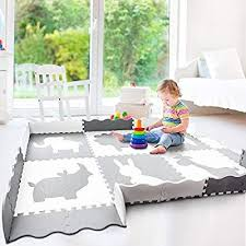 Amazon Com Wee Giggles Extra Large Non Toxic Baby Play Mat Neutral Nursery Or Playroom Baby Nursery Neutral Baby Play Mat Best Baby Play Mat