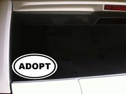 Adopt Oval Car Decal Vinyl Sticker 6 D50 Family Children Support Animals Pets For Sale Online