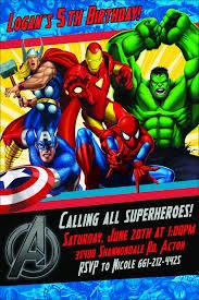 Avengers Birthday Invite Etsy Fiestas De Cumpleanos Marvel