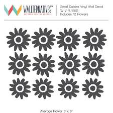 Large Daisy Flowers Vinyl Wall Decal Diy Floral Girls Room Decor Wallternatives