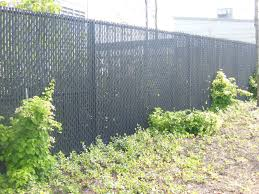 Guess I Dont Really Want Grey 6 Black Chain Link Fence With Pvc Privacy Slats Black Chain Link Fence Chain Link Fence Privacy Chain Link Fence