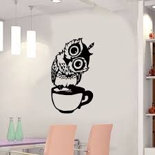 Buy 1pc Wall Sticker Cute Cartoon Owl Cup Home Kitchen Wall Waterproof Decal Wall Stickers At Jolly Chic