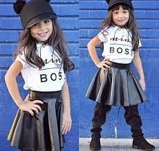 toddler kids baby girls letter t shirt