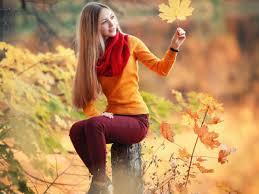 صور بنات الفيس بوك الجديدة Blonde Girl Autumn 4k صور بنات كيوت