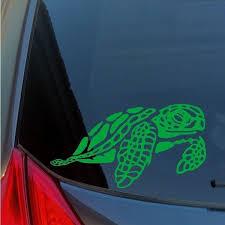Sea Turtle Vinyl Sticker Decal Hawaiian Green Honu Hawaii Pacific Molokini Oahu Wish
