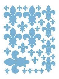 Powder Blue Fleur De Lis Wall Decals Bedroom Decor Whimsidecals