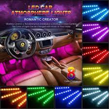 Set 4 dây đèn LED RGB nhấp nháy theo nhạc kèm remote điều khiển dùng trang  trí nội thất xe ô tô giảm chỉ còn 126,000 đ