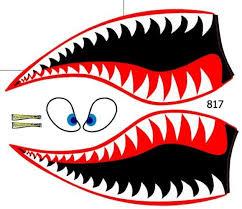 Flying Tigers Shark Face Powersportswraps Com