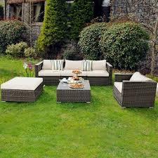 furniture set patio sofa pe grey rattan