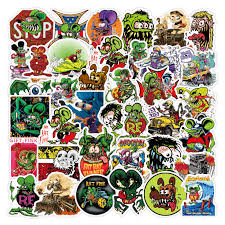 50pcs Pack Rat Fink Mouse Waterproof Stickers For Mobile Phone Laptop Luggage Guitar Case Skateboard Bike Car Decal Stickers Stickers Aliexpress
