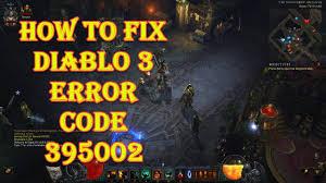 Diablo 3 Error Code 395002 Quick Fix ...