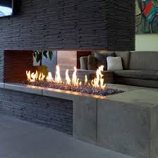 google linear fireplace modern