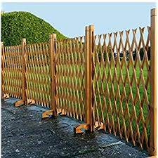Lembrd Pet Gate Wooden Picket Fence Fold Able Indoor Outdoor Free Standing Safety Gate Portable Separation