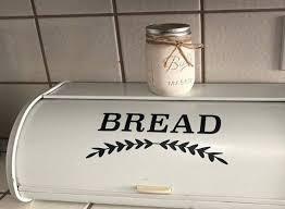Farmhouse Bread Box Decal Kitchen Label Bread Decal Vinyl Etsy