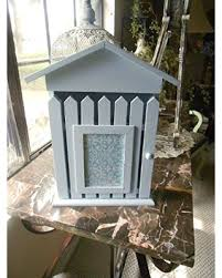 Here S A Great Deal On Upcycled Key Holder Picture Frame Shabby Chic Light Blue Hand Painted Wall Decor Beach Decor Key Storage Picket Fence Design House Design