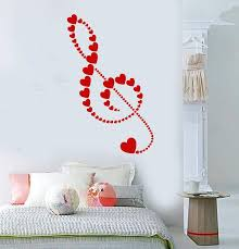 Vinyl Wall Decal Clef Heart Symbol Love Music Romance Gift For Girl St Wallstickers4you