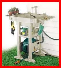 outdoor sink station with hose reel