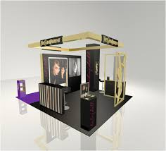 stand ysl in gum moscow 3d model