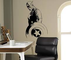 Amazon Com Captain America Wall Decal Avengers Vinyl Sticker Comics Home Interior Children S Art Decor Ideas Bedroom Kids Room Removable Design 6 Cap Home Improvement