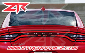 2015 2020 Dodge Charger Rt 345 Racetrack Taillight Vinyl Decal Ztr Graphicz