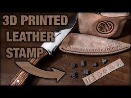 leather stamp make your own with 3d