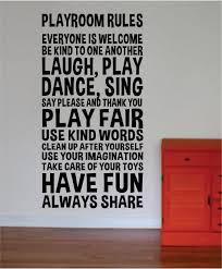 Playroom Rules Nursery Kids Children Quote Decal Sticker Wall Vinyl De Boop Decals