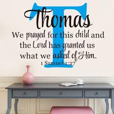 1pc Christian Removable Non Toxic Vinyl Bible Verse Samuel 1 27 Wall Stickers Wallpaper Wall Decals Buy At A Low Prices On Joom E Commerce Platform