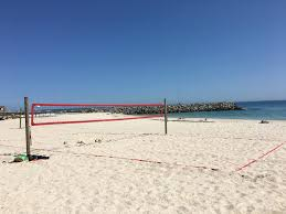 diy wooden posts volleyball court kit