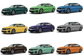 paint colors for the bmw 3 series