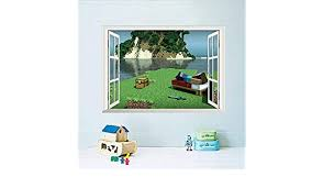 70cm Minecraft Cartoon Game 3d Wall Sticker For Kids Room Mural Poster Home Decor Wall Decal Poster Square World 50 Wall Stickers