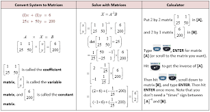solving linear equations using matrices