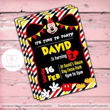 Invitacion Digital Mickey Mouse Cumpleanos Whatsapp Bs 500 000