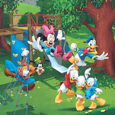 Online Sale Mickey Mouse And Donald Duck Wall Mural Professional Wallpaper Manufacture In China