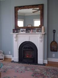 contemporary fireplace mantel height