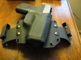 kahr cw9 homemade holster pics