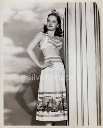 Orig 1940's ALEXIS SMITH Beach Beauty.. SURFBOARD PIN-UP by WELBOURNE –  Silverpinups