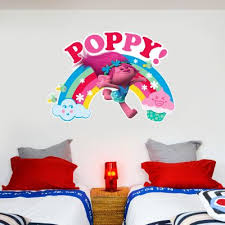 Official Licensed Football Entertainment Wall Stickers Trolls Poppy Rainbow Wall Sticker The Beautiful Game