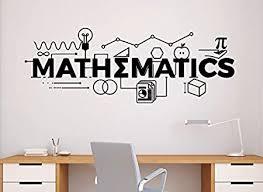 Mathematics Wall Decal Vinyl Sticker Home Decor Maths School Education Classroom Interior 6n Amazon Com