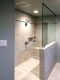 shower small bathroom diy half walls