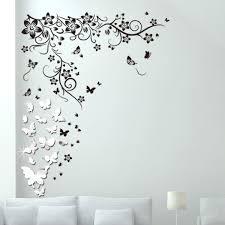 Walplus Mirror Butterflies Vine Wall Decal Reviews Wayfair